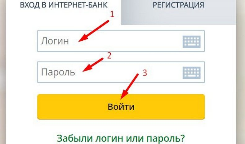 Авторизация в личном кабинете интернет-банка Россельхозбанк